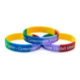 Kundenspezifischer Sport gesponnenes Wristband-Armband-Chip-Farbe kundenspezifisches Geschenk Keychain