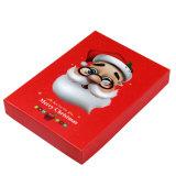 キャンデーの荷箱のためのふたが付いている高品質のふたおよびベースボックスのクリスマスデザインギフト用の箱