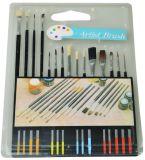Ensemble de la brosse de peinture de l'artiste fine 15pcs ou 10pcs de bois ou de la poignée en plastique