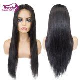 100 % Meilleures Remy Hair Straight Lace Front perruque de cheveux naturels de l'homme