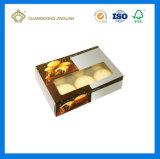 Cajas de embalaje de Custom-Made Macaron de lujo para 6 PCS y ordenadores de 12 Macarons (con la ventana de plástico transparente)
