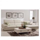 Sofá de couro moderno feito do couro genuíno para a sala de visitas