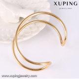 51607 Xuping Form-einfaches Gold überzogenes Schmucksache-geöffnetes Armband