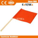 Оранжевый цвет сетки ПВХ Материал Ткань Дорожный флаг (FLAG)