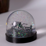 Custom Lowest Price Plastic Snow Globe Carriage Inside
