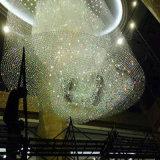 De decoratieve Moderne Lamp van de Tegenhanger van de Hal van het Hotel van het Glas