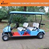 4 de Elektrische die Kar van het Golf Seater in Park, de Elektrische Auto van het Hotel van 4 Wielen, Elektrische die Auto wordt gebruikt in Tuin wordt gebruikt