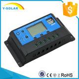 contrôleur intelligent solaire d'affichage à cristaux liquides de 10AMP 12V/24V avec USB-5V/3A duel Cm20K-10A