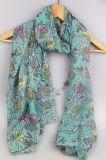 Sciarpa del poliestere della flora, sciarpa del gufo di stampa, scialle dell'accessorio di modo