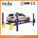 Alzamiento auto de Colunms de la protección resistente 4 del pie para los centros de la reparación del coche (412)