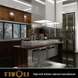 최고 부엌 디자인 나무로 되는 부엌 찬장 높은 광택 부엌 가구는 부엌 찬장 Tivo-0042V를 반대로 긁는다