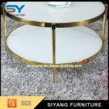 Novo design elegante em duas camadas de vidro MDF mesa de café