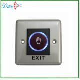 para el infrarrojo del sistema del control de acceso ningún interruptor sin contacto del sensor del botón de la salida del desbloquear de la puerta del tacto con la indicación del LED