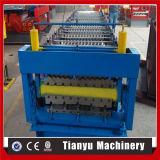Tipo popular trapezoidalmente e rolo ondulado da camada dobro que dá forma à máquina
