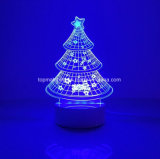 LEIDENE van de Illusie van de Lamp van het Bureau van de Decoratie van het Huis van de Boom van Chirstmas 3D Licht van de Nacht