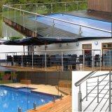 Frontière de sécurité de Handrial de pêche à la traîne d'Indoor&Outdoor charnière en verre de 135 degrés
