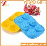 Forme de fleur rose en silicone Ice Cube/plateau de moule à gâteau au chocolat en silicone/ moule