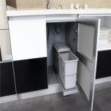 N u. L Küche-Schrank-glänzender Lack-Glastür mit Aluminium