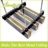 2018 Hot Sale bande métallique de plafond en bois en aluminium