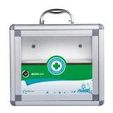 Caixa de armazenamento grande da medicina do metal do tamanho da cor verde