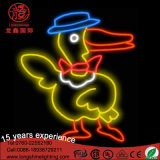 Waterproof Flexible LED Neon Sign Amarelo Duck Cartoon Light para Party Shop Decoração