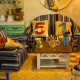 Precioso juguete de madera DIY Casa de muñecas con muebles