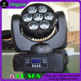 7X10W 단계 이동하는 맨 위 디스코 장비 LED 광속 빛