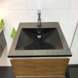 Одиночное или двойное Sink&Basin сделанное из естественного черного гранита