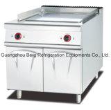 Cuisinière électrique électrique autonome en acier inoxydable avec armoire 1/3 rainurée