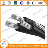 Condutor de alumínio / Serviço de suspensão Triplex Aéreo de cabo
