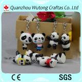 Postes décoratifs de cadeaux de caractéristique de mini de panda trousseau de clés chinois promotionnel de résine