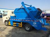 Dongfeng 4cbm 4ton Camión de la basura de la nadada del brazo