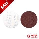 Disco de papel abrasivo de arena de óxido de aluminio para la almohadilla de lijado de gancho y bucle
