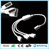 4pin 1 tot 2/3/4 Kabel van de Splitser van de Vrouwelijke Schakelaar RGB voor 3528 5050 RGB LEIDENE Strook