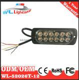 매우 얇은 이중 줄 12 LED 표면 마운트 램프
