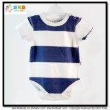 縞の印刷の赤ん坊の衣服の有機性綿の幼児のBodysuit