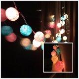 高品質の多彩な倍数LED 2m20LEDの綿球ライト