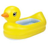 Vasca da bagno gonfiabile di nuotata del PVC dell'anatra gialla per il neonato