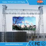 Visualização óptica Rental ao ar livre do diodo emissor de luz da cor cheia de HD P6mm para a propaganda