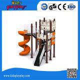 Открытый детская площадка и игровая площадка пластмассовых материалов типа пластиковой слайд для детей