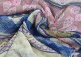 Lenço tecido impresso para Gilrs, xailes mornos do acessório de forma de Boho