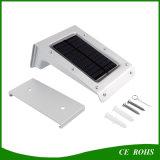 PIR 운동 측정기를 가진 녹색 옥외 태양 점화 작은 구멍 스위치 20LED 태양 벽 빛