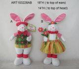 """18""""H permanente de la decoración de Pascua chico y chica Bunny-2asst"""