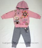아이 옷, 아이들 착용에 있는 프랑스 테리 Gilr 스포츠 한 벌