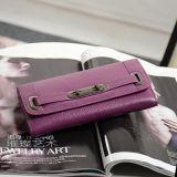 Bourse classique Emg4736 de femmes d'embrayage de pochette de cuir véritable de marque