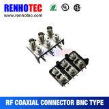 Femelle de BNC au connecteur à angle droit de RCA