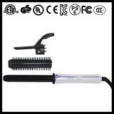 Hierro que se endereza del coreano del pelo y que se encrespa giratorio con el cepillo