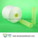 Filato filato memoria bianca grezza luminosa completa del poliestere sul cono di carta di /Plastic del cono