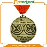 Kundenspezifische Unterschied-Antike-Überzug-Medaille mit Farbband