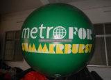 Pubblicità dell'aerostato rotondo dell'elio gonfiabile grande con il marchio
